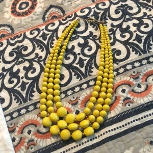 Fun yellow statement necklace